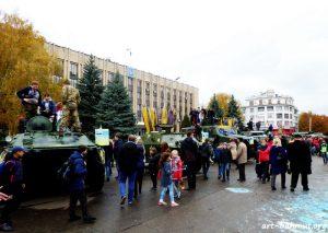 Святкування Дня Захисника України у місті Бахмут 14.10.2017 року фото 13