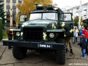 Святкування Дня Захисника України у місті Бахмут 14.10.2017 року фото 2