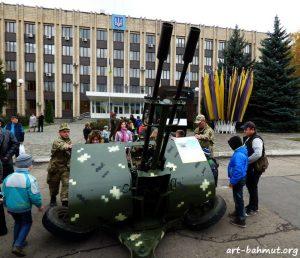 Святкування Дня Захисника України у місті Бахмут 14.10.2017 року фото 8